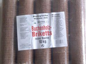 2 x 10kg Holzbriketts Buchenholzbriketts Rund Buche Briketts Holz (20kg)