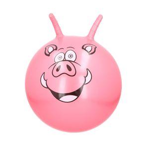Kinder Hüpfball mit Griffe Sprungball Hopser Ball Gymnastikball Tiermotiv Schwein Tragkraft max. 50 kg