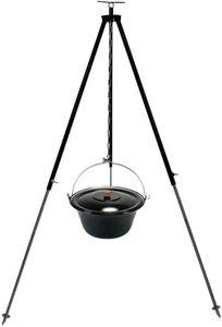 Gulaschkessel 10 Liter Dreibein 130 cm Kettenhöhenverstellung