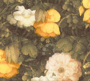 Livingwalls Blumentapete Metropolitan Stories florale Tapete Anke & Daan Amsterdam Vliestapete grün gelb creme 10,05 m x 0,53 m