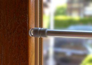 Gardinenstange Vorhangstange Vitragenstange Klemmstange silber 80-120cm ausziehb