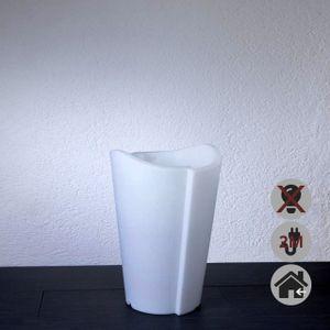 EPSTEIN-DESIGN TULPE INNEN 60 cm 2M KABEL Beleuchtetes Pflanzgefäß Weiß