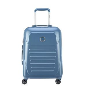 VISA DELSEY Cabin Slim Koffer Munia Trolley - 55 cm - 4 Rollen - Blau
