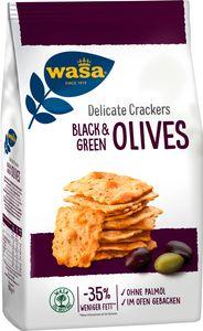 Wasa Knäcke Delicate Crackers mit schwarzen und grünen Oliven 150g