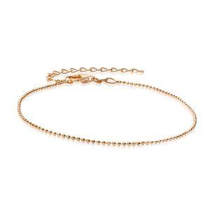 MATERIA Armkette rosegold Damen dünn 1mm - 925 Silber Armband Frauen Kugelkette rose vergoldet diamantiert 17-22cm SA-85