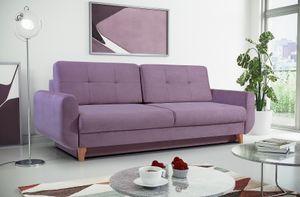 Sofa 3-Sitzer Schlafsofa ARLET Stoff Violett