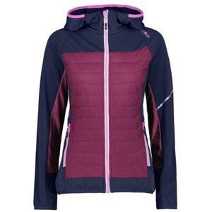 CAMPAGNOLO Jacket Fix Hoody Hybrid W - Blue/amaranto, Damen, 31E2496-49NH, L/42