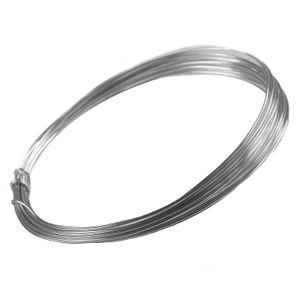 5m Aludraht Aluminiumdraht 1mm Dekodraht Schmuckdraht Bindedraht Farbwahl, Farbe:grau changierend