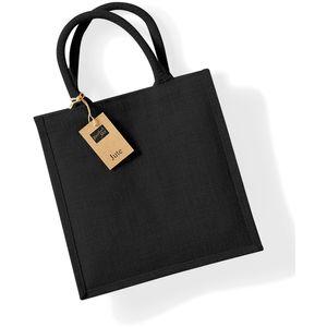 Westford Mill Jute-Tasche / Jute-Einkaufstasche, 14 Liter BC2792 (Einheitsgröße) (Schwarz/Schwarz)