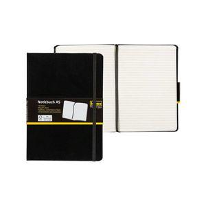 IdenaDIN A5 Notizbuch liniert 192 Seiten, 80 g/m² holzfreies Papier Notizheft Tagebuch mit Lesezeichen