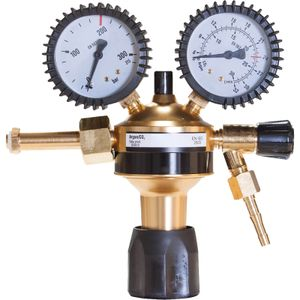 Druckminderer Argon/CO2 Eco mit 200 bar Eingangsdruck und 0-32 L/min Durchflussmenge, Gas Druckregler einstufig für MIG MAG WIG Schutzgas