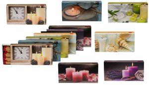 XL Streichholzschachteln Kerzen Motive: 8 x 45er Packungen / 96mm Streichhölzer Zündhölzer