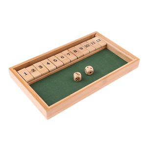 Wood Deluxe 1 12 Number Shut The Box Würfel Brettspiel Spielzeug für Kinder Erwachsene