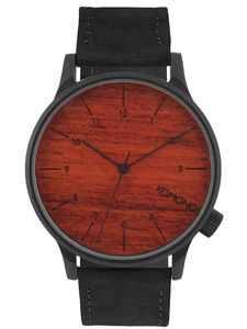 Komono  The  Winston  KOM-W2020  Black  Wood  Herren  Armbanduhr
