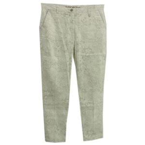 22371 Gang, Salvi Chino,  7/8 Damen Jeans Hose, Denim, weiß gemustert, W 30