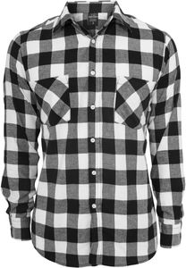 Urban Classics Hemd Checked Flanell Shirt Black/White-3XL
