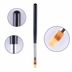 Ombre Pinsel schwarz für Babyboomer Nail Art Farbverlauf Kammpinsel