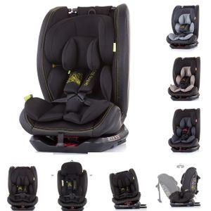 Chipolino Kindersitz Techno Gruppe 0+/1/2/3 (0 - 36 kg) Isofix, 360 Grad drehbar schwarz