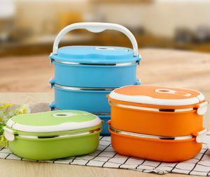 Thermo Lunchbox Brotdose Speisebehälter Essen Thermos Isolier Behälter Container Grün
