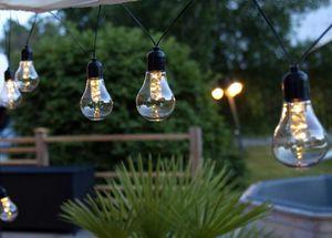 """Star Trading Lichterkette """"Glühbirnen"""" 30 LEDs warmweiß 6/18h Timer für Außen 4,05m"""