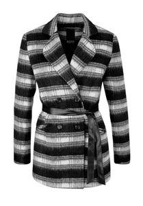 Laura Scott Damen Woll-Jacke Schwarz mit aufgesetzten Taschen, Größe:36