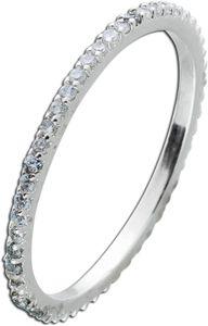Silberring weißen Zirkonia  Memoirering Silber 925 Damenring 20