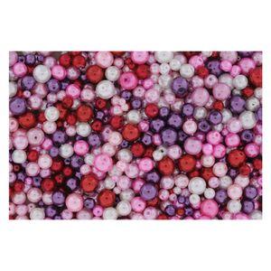 Wachsperlen Rot Mix Ø 4-6-8-10mm - 1kg Großpackung (ca. 3.700 Stück)