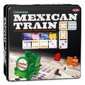 Tactic Domino Spiel Mexican Train Tin Box