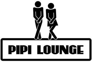 WC Deckel Aufkleber lustiger Spruch Pipi Lounge Toiletten Sticker Badezimmer Klodeckel Tattoo Bad Klo 3C101, Farbe:Weiß glanz, Breite vom Motiv:25cm