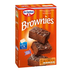 Dr. Oetker Brownies Backmischung mit Backform für 16 Brownies 456g