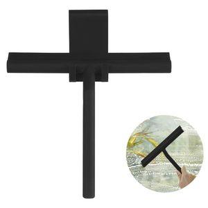 Duschabzieher/Bad- und Duschwischer mit Halter, Silikon und Kunststoff, 21 x 16 cm, schwarz