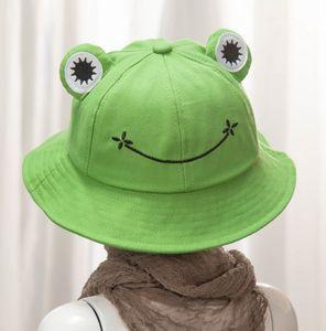 Baumwolle Cartoon niedlicher Frosch Eimer Hut Männer und Frauen im Freien faltbarer Fischerhut