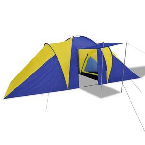 dereoir Familienzelt Kuppelzelt Campingzelt 6 Personen Gelb