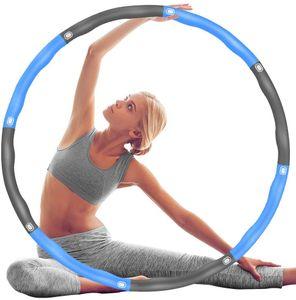1 Stück Hula Hoop Reifen, Fitness Hula Hoop zur  und Massage, 8 Segmente Abnehmbarer Hoola Hoop für Erwachsene