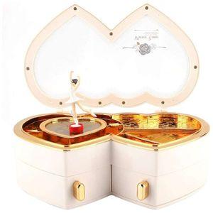 Mllaid Spieluhr, Ballerina Spieluhr, Schmuckaufbewahrungsbox, mit transparentem Deckel Aufbewahrungsbox für kleine Mädchen Mädchengeschenk kleine Schmuckaufbewahrung Home Jewelry Box