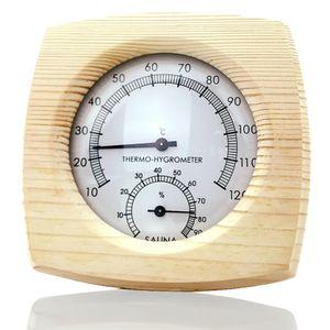 Holz Sauna Thermometer Thermo Hygrometer Saunazubehör 120℃ für Saunahaus