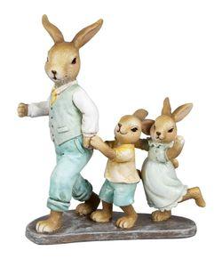 Hase Hasen Paar Kind Osterhase Kaninchen Deko Garten Figur Dekohase Skulptur