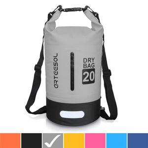 arteesol Dry Bag 20L Wasserdicht seesäcke Tasche Seesack Rollbeutel Packsack für Rafting Camping, Grau