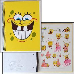 Ringbuch Kladde SpongeBob DIN A4, 80 Blatt kariert, mit Stickerbogen 18 Sticker, stabil