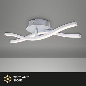 LED Deckenleuchte Deckenlampe 2-flammig 12W Aluminiumfarbig Briloner Leuchten