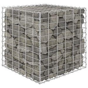 Würfel-Gabionen-Hochbeet Garten-Hochbeet Hochbeet Stahldraht 60x60x60 cm