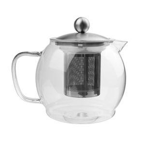 HI 16029 Glas Teekanne 1,2L mit Edelstahl Filter