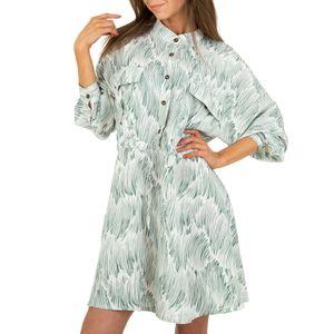 Ital-Design Damen Kleider Blusenkleider Grün Gr.s/M