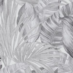 A.S. Création Palmentapete Greenery Dschungeltapete Vliestapete schwarz weiß grau 10,05 m x 0,53 m