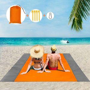 Picknickdecke 210 x 200 cm, Stranddecke Wasserdicht, Sandabweisende Campingdecke 4 Befestigung Ecken, Picknick/Strand Matte für den Strand, Campen, Wandern und Ausflüge