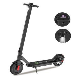"""Megawheels S5S 8.5""""Inflatable Wheels Faltbarer Elektroroller, 250W, bis zu 23 km/h, mit LCD-Display, Klingel und Scheinwerfer, Einfach zu Faltbarer und Tragbarer E-Scooter (Ohne ABE-)"""