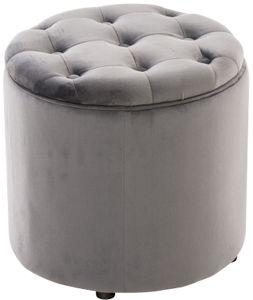 CLP Sitzhocker Pantin Samt mit Stauraum, Farbe:grau