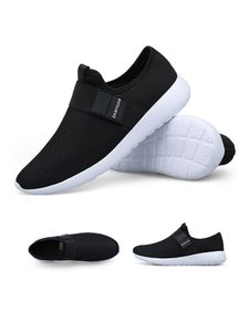 Men'S Mesh Sneakers Sports Breathable Casual Shoes Running Socks Shoes Outdoor Sports Shoes,Farbe: Schwarz,Größe:43
