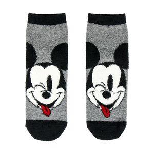 Disney Kinder Kuschelsocken mit Mickey-Maus-Motiv 604 (27-30 EU) (Grau/Schwarz)