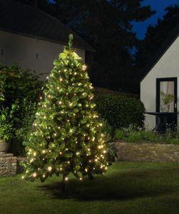 LED Lichternetz Trapez Kegel Warmweiß Netz für Weihnachtsbaum Auswahl von 90-250cm, Länge:160 LED 130-170cm